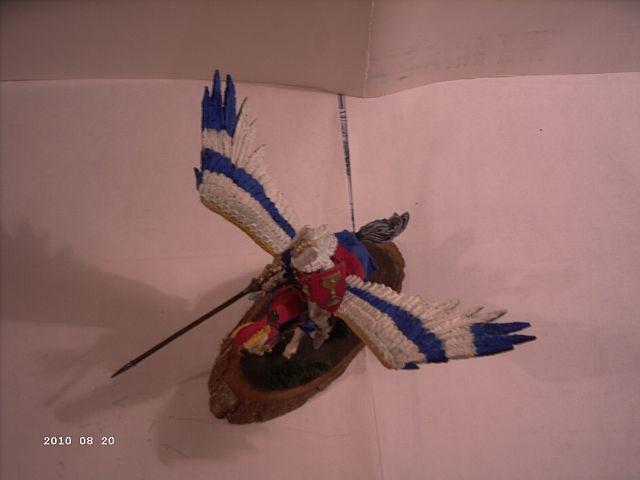 Warhammer - Bretonischer Held auf Pegasus - Fertig 333