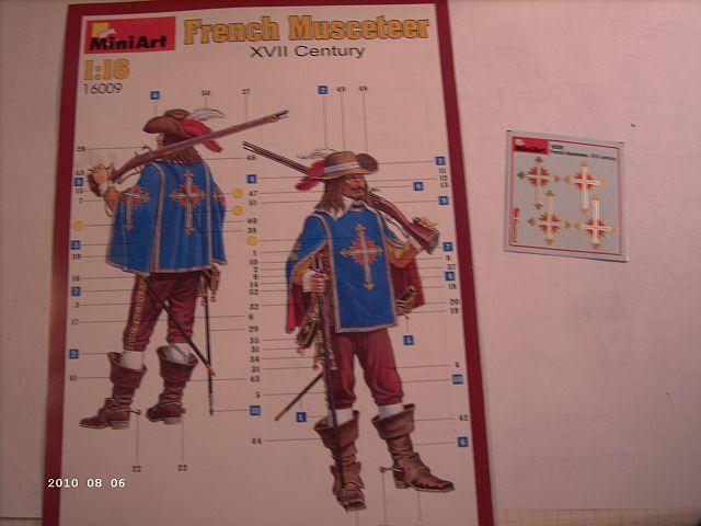 MiniArt - Franz. Musketier 17. Jahrhundert Artikel 16009 in 1zu16 416