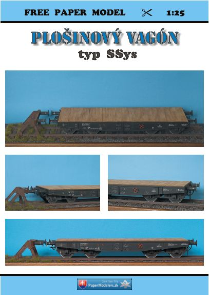 Papermodelers SK - Plattformwagen SSY in 1/25 - kostenloser Download Cover10