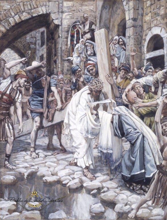 Una mujer limpia el Rostro de Jesús Una_mu13