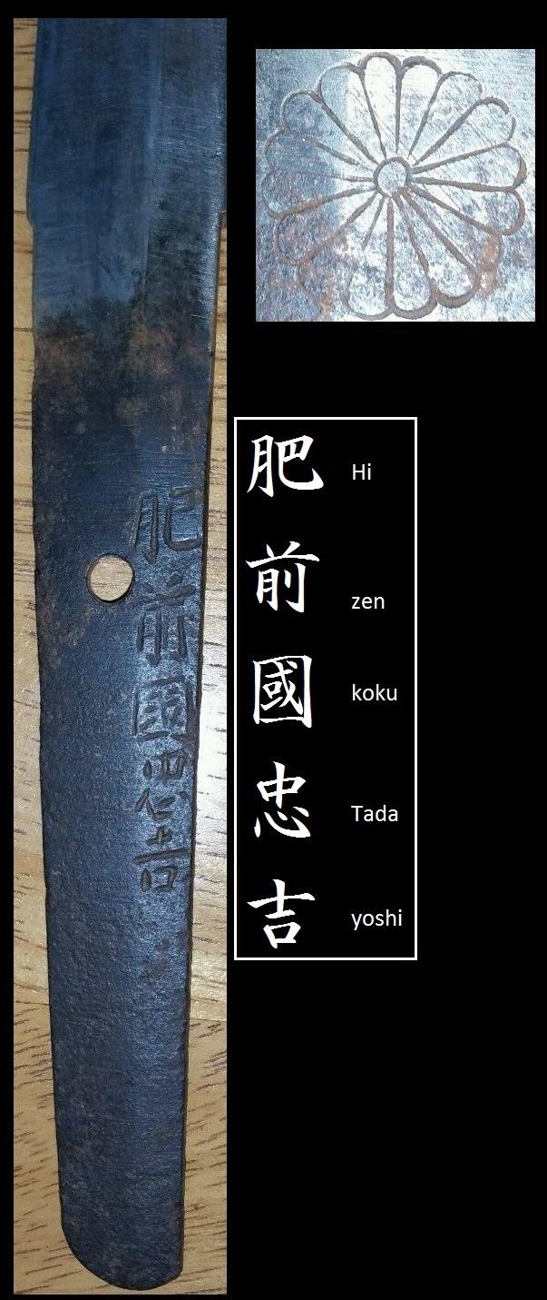 sabre japonnais wakizashi  avec signature  Hizen Tadayoshi Hizen_11