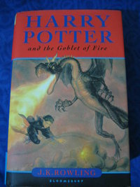 Signed Copy of Goblet of Fire Up for Bidding 410