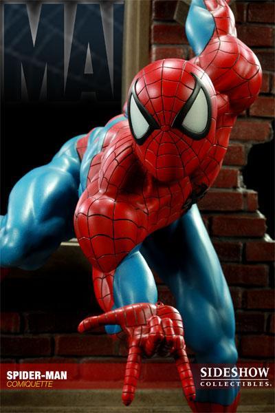 MARVEL COMIQUETTE  SPIDER-MAN STATUE Marvel13