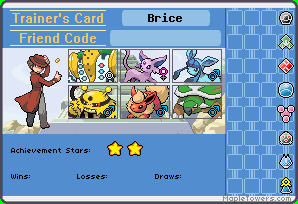 Trainer cards Brice10