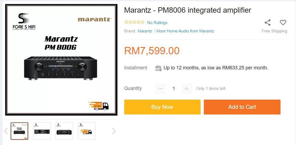 Marantz PM8006 Integrated Amplifier 11737710