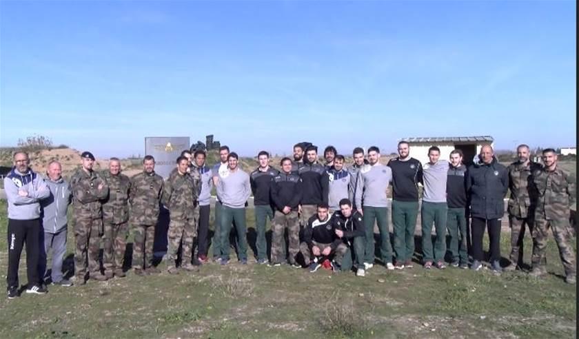 Les handballeurs d'Istres ont réussi leur mission commando au 25e RGA 840_me10