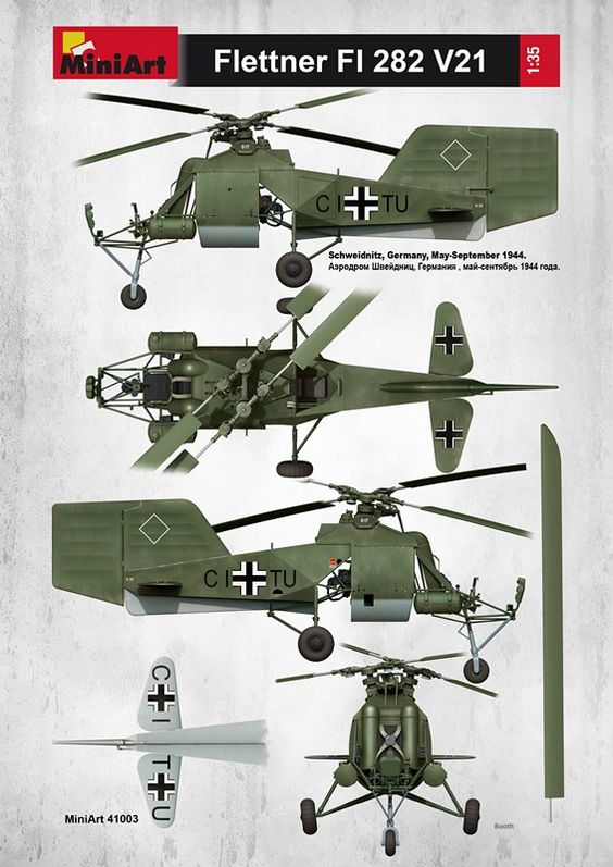 Le Flettner Fl 282 Kolibri  hélicoptère nazi 908d0310