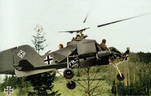 Le Flettner Fl 282 Kolibri  hélicoptère nazi B6mrvb10