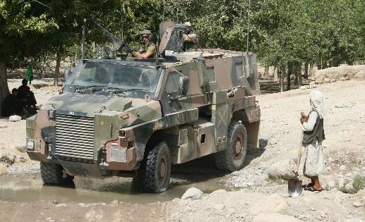 Le véhicule blindé Bushmaster du groupe industriel français Thales Bushma10