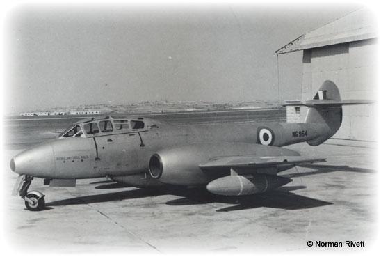 RAF based or visiting Malta post war Meteor10