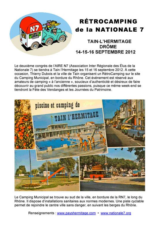 Rétrocamping de la Nationale 7 le 14.15&16 septembre 2012 Tain L'hermitage (Drôme) Retroc10