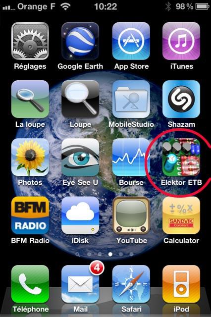 Electronic Toolbox Elektor sur iPhone Elekto10