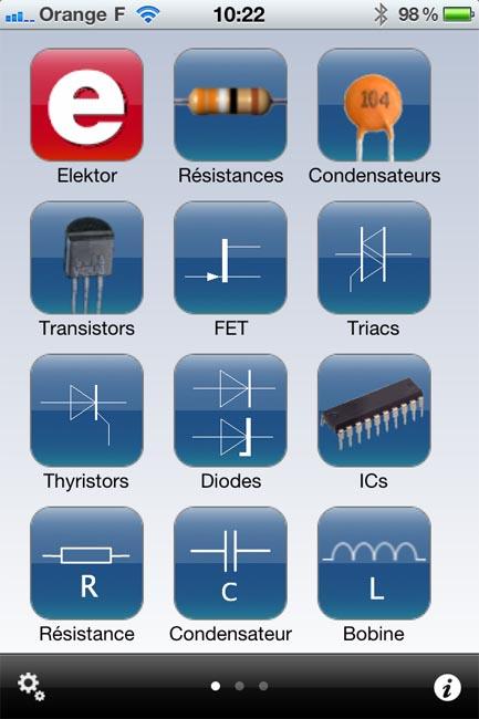 Electronic Toolbox Elektor sur iPhone Elekto11
