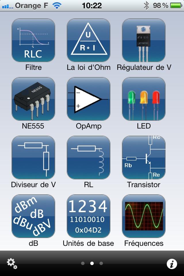 Electronic Toolbox Elektor sur iPhone Elekto12