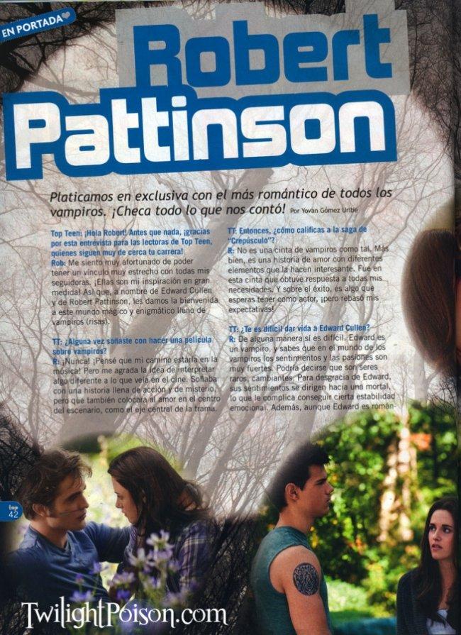"""Robert Pattinson : """"Je me moque du physique"""" Twilig13"""