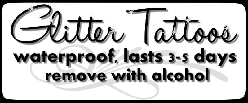 Glitter Tat sign Glitat10