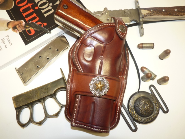 """HOLSTER """"PECKINPAH"""" pour 1911 """"WILD BUNCH """" by SLYE P1100028"""