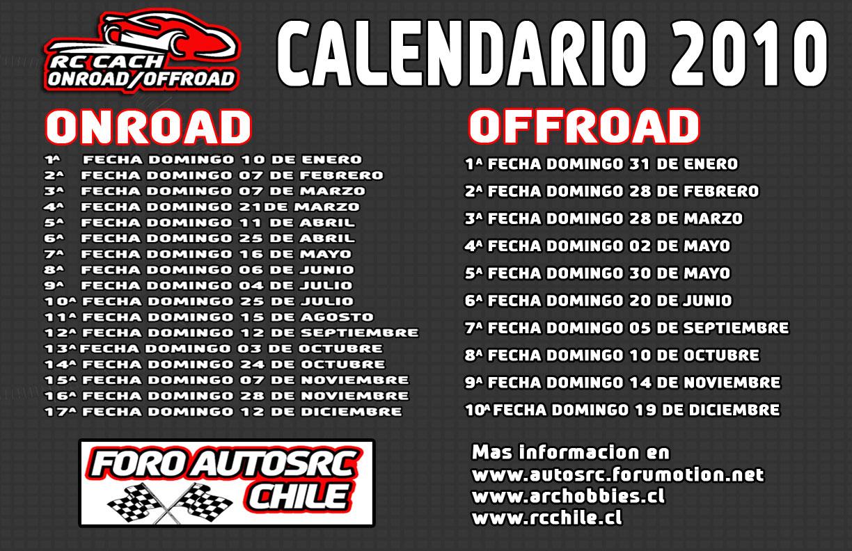 CALENDARIO FECHAS ONROAD Y OFFROAD 2010 Baseca10