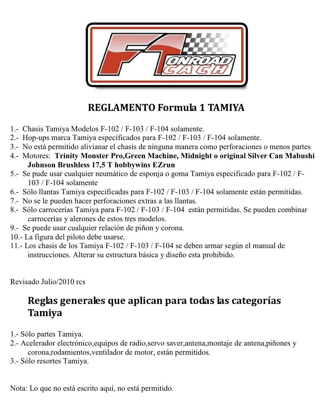 Reglamento Tamiya Formula 1 (F102/F103/F104) Reglam10