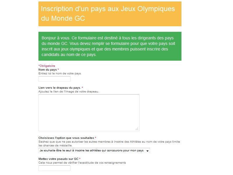 Jeux Olympiques du monde GC - Suivi du projet. Vue210