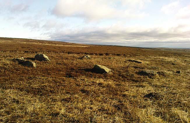 New stone circle on Rombalds Moor Romsba10