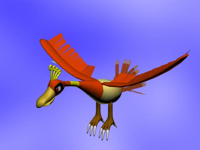 3D Model projects Ho-oh_13