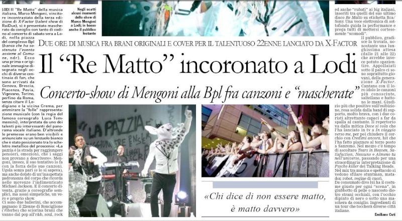 Re Matto Tour: notizie e recensioni - Pagina 2 Marco10