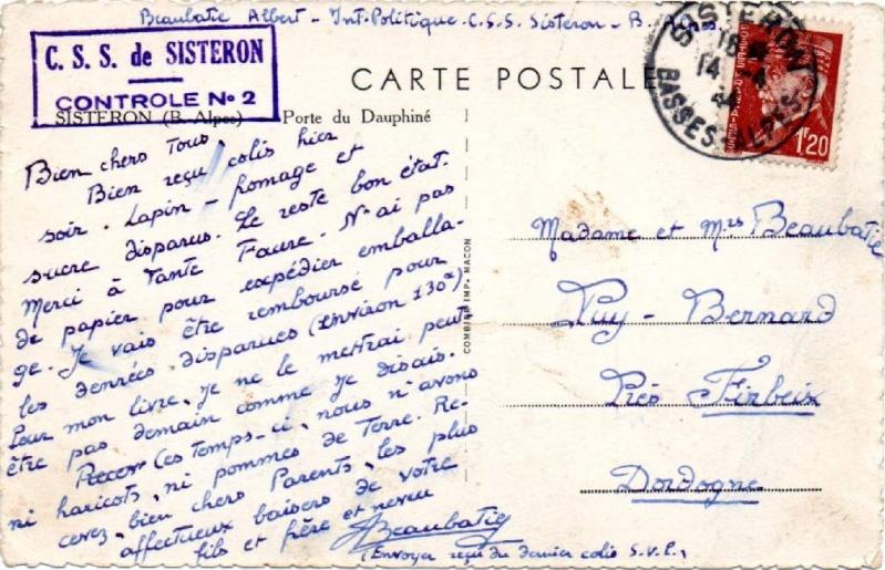 Tarif des cartes postales pendant la Deuxième Guerre mondiale 1944_s10