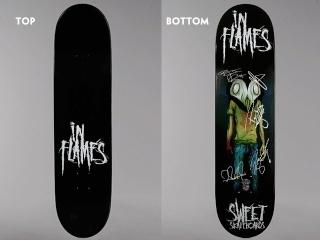 In Flames oferecem skate personalizado e autografado Inflam12