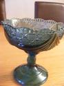 Blue pressed glass pedestal sugar bowl ID required Glass_10