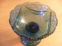 Blue pressed glass pedestal sugar bowl ID required Glass_11