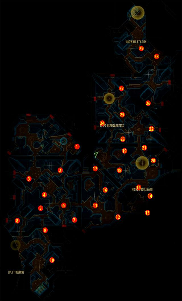 Halo ODST Intel Locations (Map) Halo-310
