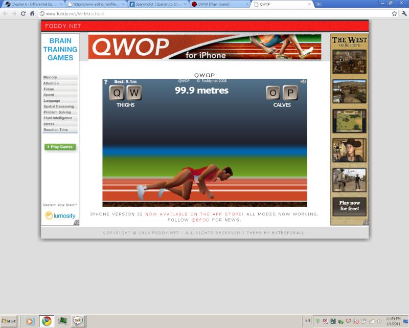 QWOP [Flash Game] Lol10