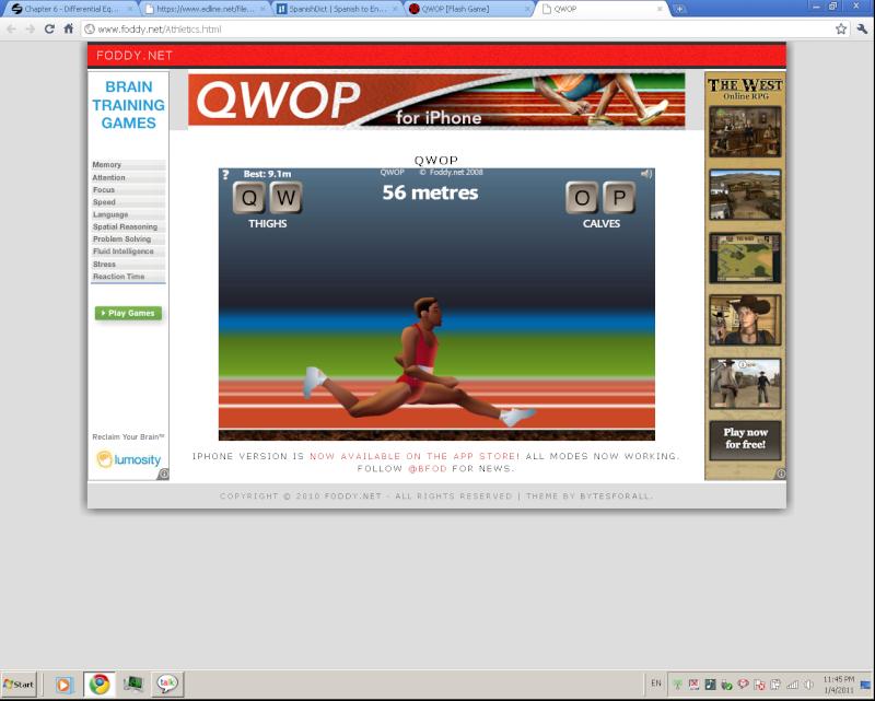 QWOP [Flash Game] Qwop10