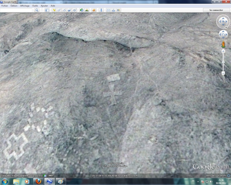 """Geoglyphe anachronique ? """"El Mar"""", Mont Cerro Pintados, Tarapacá - Chili Croix_10"""
