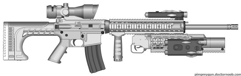 Guns Delux M16_mo10