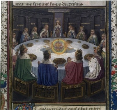 La table ronde (enluminure d'un incunable) 817_210