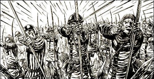 Bataille de Crecy (Début de charge) Crecyd10