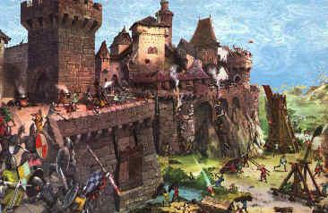 Sièges d'un château  Sieges10