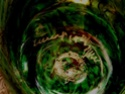 Green glass dish with unknown marks Signat14