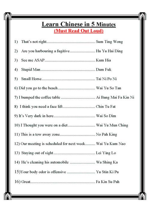Learn Chinese in 5 Minutes Cf6c7f10
