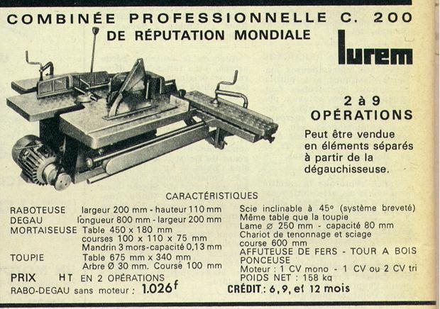Lurem C 200 junior, C 200, C 210, C 210 b,  C 260 + C 260E & C 310E Fichie10