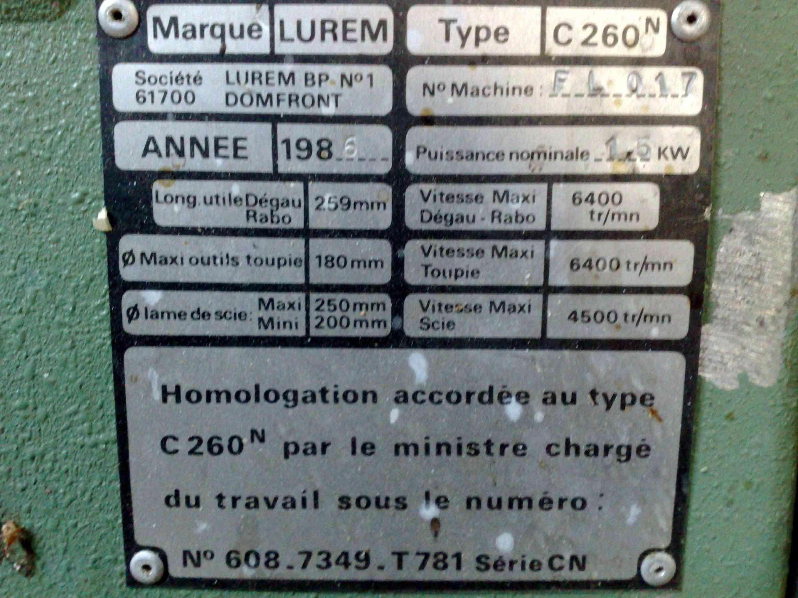Lurem C 200 junior, C 200, C 210, C 210 b,  C 260 + C 260E & C 310E Lurem10