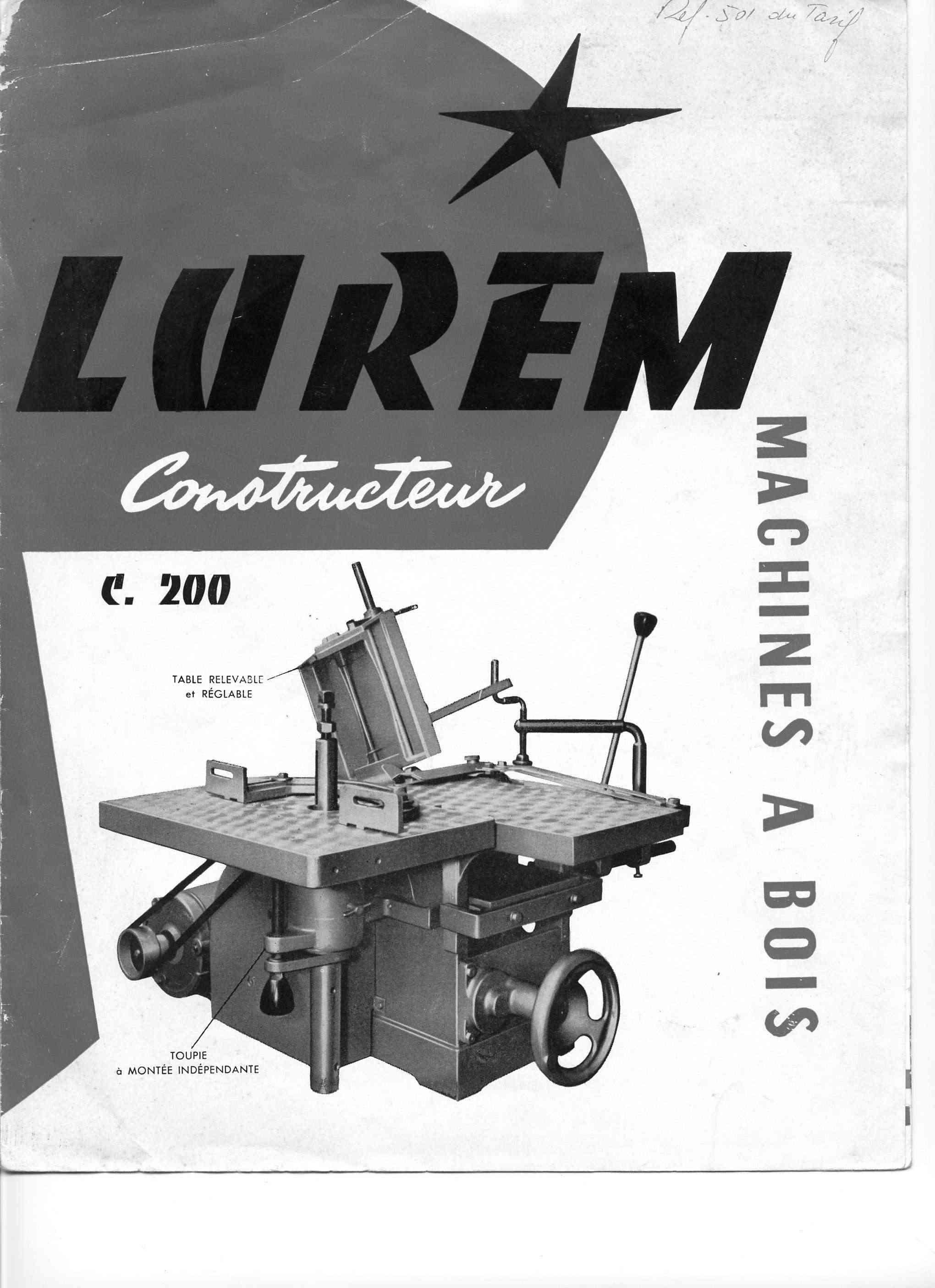 Lurem C 200 junior, C 200, C 210, C 210 b,  C 260 + C 260E & C 310E Lurem_10