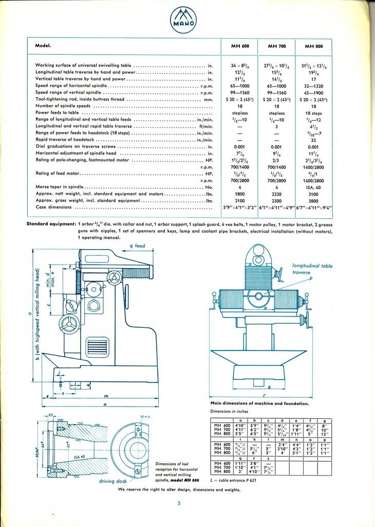 MAHO MH600, 700, 800 Maho6014