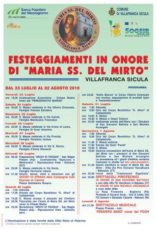 """"""" MARIA SS DEL MIRTO"""" Villafranca sicula (AG) Manife10"""