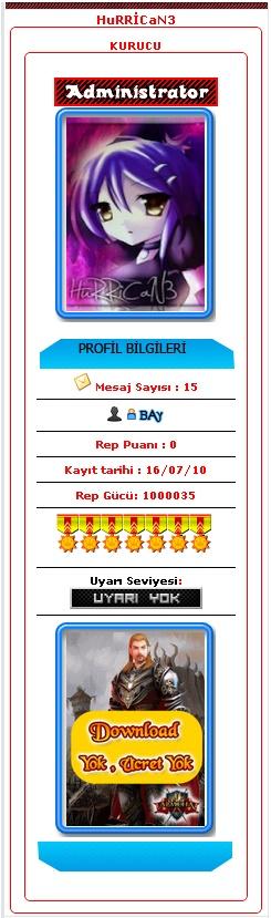 modülersiz.. profil kodu css plss Hurric10