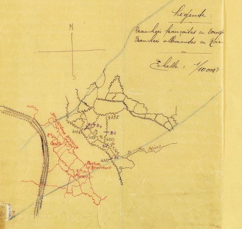 Sapigneul, le monument des mitrailleurs disparus Tranch10