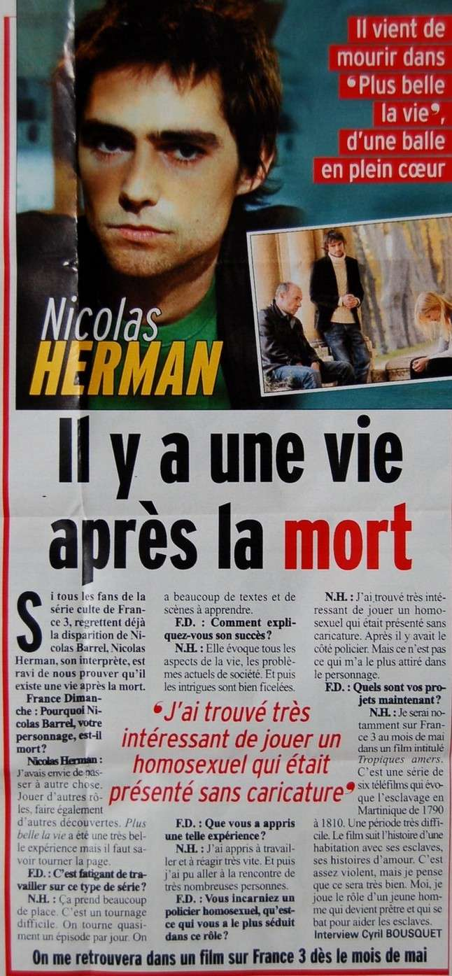 Articles de presses sur Nicolas Herman Artil110