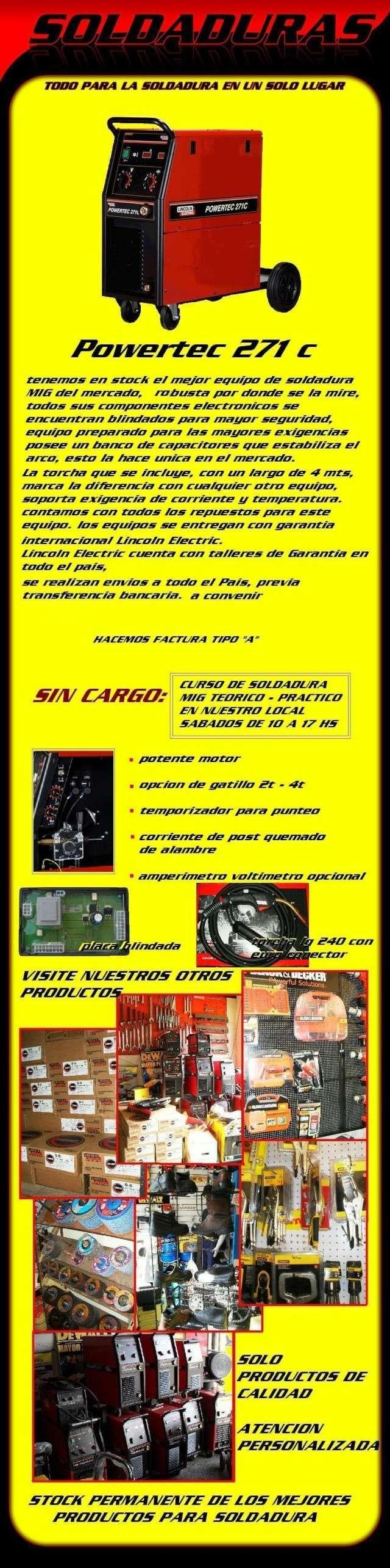soldadora MIG powertec 271c de LINCOLN ELECTRIC 271c11